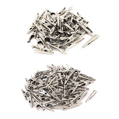 45pcs/90pcs Mini Electrical Crocodile/Alligator Test Clip Clamp Jaw 10x42mm PK