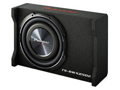 "Pioneer TS-SWX2502 10"" Preloaded Shallow Mount Enclosure Box New TSSWX2502"
