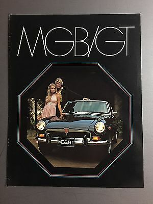 1972 / 1973 MG MGB/GT Showroom Advertising Sales Brochure RARE!! Awesome L@@K