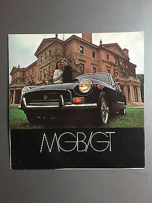 1969 MG MGB/GT Showroom Advertising Sales Folder Brochure RARE!! Awesome L@@K
