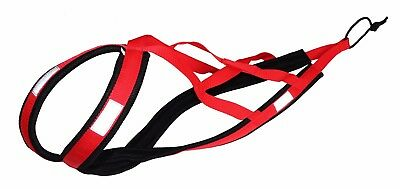 Weight Pulling Dog Harness,X-Back Style,Bike,Canicross,Jogging,Sled in red