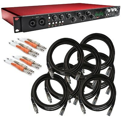 Focusrite Scarlett 18i20 (2nd Gen) USB Audio Interface CABLE KIT
