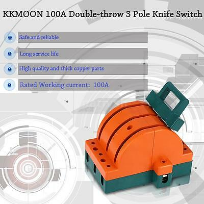 100A 3 Pole Double Throw Knife Disconnect Switch Copper for Industria/Home R1I4