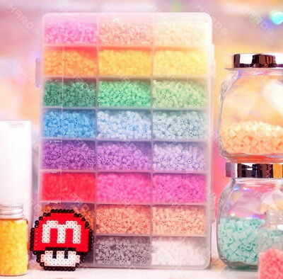4500 perler beads 24 colors hama for designs plussize craft cute fun box set  G