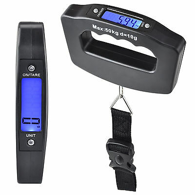 50KG Electronic Digital Portable Weighing Scale Handheld Travel Suitcase Luggage