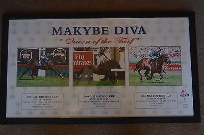 Horse Racing Melbourne Cup Makybe Diva Queen of the Turf Print