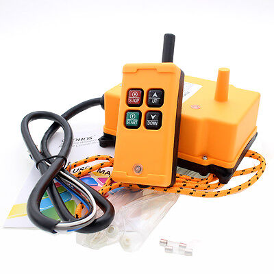 4 Key Crane Industrial Remote Control  Wireless Transmitter Push Button Switch