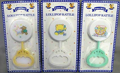 Baby Goods: Lollipop Rattles On Blister Packs Wholesale 12 Pc Lot  (BR25017  ^)
