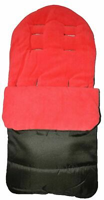 Universal Footmuff Cosy Toes Fits All Pushchair / Buggy / Stroller Fire Red