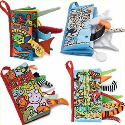 Baby Toddler Kids Crinkle Fabric Jungly Tails Cloth Learning Book Toy XMAS GIFT
