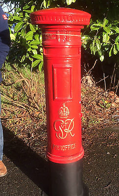 Royal Mail GR Pillar Post Office Box Red GR Red Post Box Red Letter Box Tall