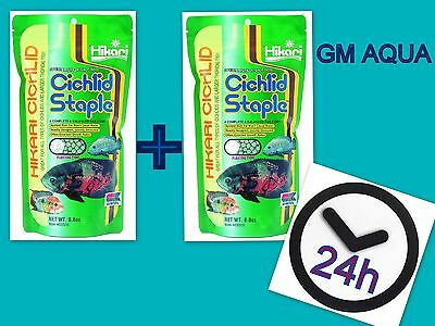 Hikari Cichlid Staple pack of 2 -Tropical Aquarium Fish Food - 1st class postage