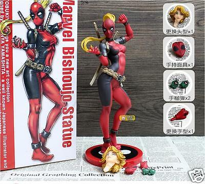 "Marvel Comics Marvel 1:7 Scale Bishoujo Statue Lady Deadpool 9.45"" Action Figure"