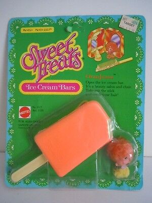 "Rare ! Vintage Sweet Treats "" Oranjeana""  Kiddle Ice Cream Bars Mattel 1978-1979"