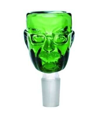 14mm Male Glass Slide Bowl Breaking Bad Walter White Heisenberg Green