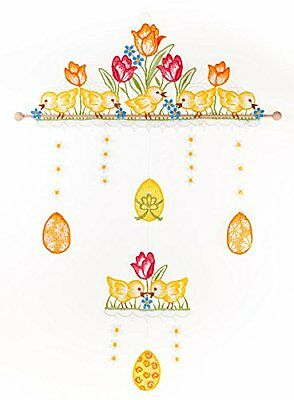 Plauner Spitze 24 x 40 cm Chicks Christmas Movable Lace Window Picture