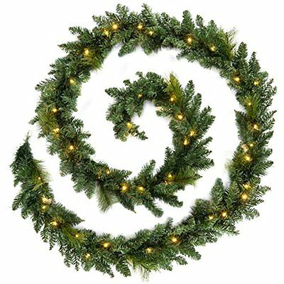 WeRChristmas 12 ft Long Pre-Lit Garland Christmas Decoration Illuminated with 52