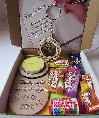 Teachers Gift Box, Teachers Day Box with mixed sweets and Keyring
