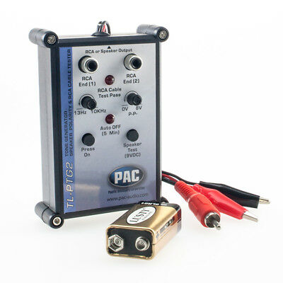 Universal tester for audio equipment / frequencies / RCA / continuity test