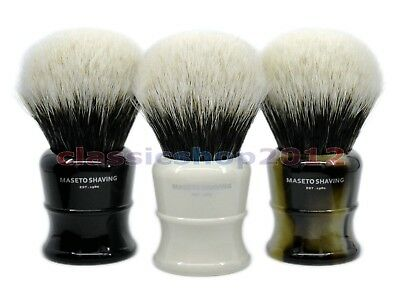 MS  - 2 Band 100% Finest Badger  Shaving Brush & Classic E&I&H Handle 30mm Knot