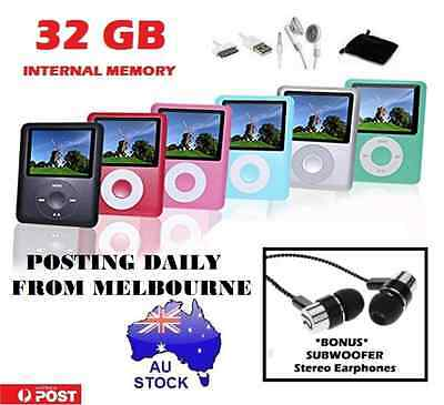"**AU Stock 32GB PORTABLE 1.8"" LCD MP3 MP4 Music Video Media Player Radio FM**"