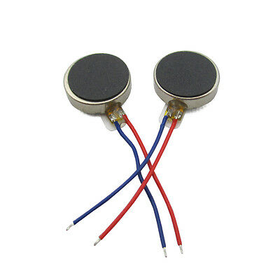 5PCS Coin Flat Vibrating Micro Motor DC 3V 8mm For Pager and Cell Phone Mobile