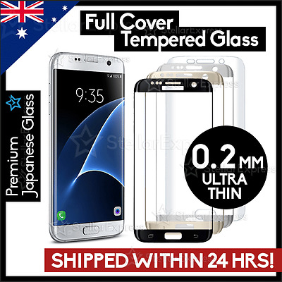 FULL COVER TEMPERED GLASS Screen Protector For Samsung GALAXY S7 S6 Edge Note 7