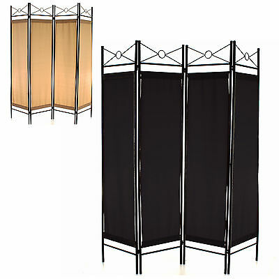 4 Panel Room Divider Screen Privacy Wall Movable Partition Folding Separator New