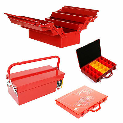 Metal Toolbox Organiser 3 5 Tray Cantilever Red 20 32 Tray Heavy Duty Tool Box