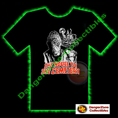 The House By The Cemetery Horror T-Shirt by Fright Rags (Medium) - NEW