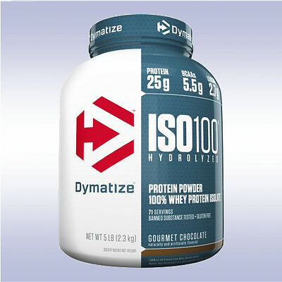 DYMATIZE NUTRITION ISO 100 (5 LB / 78 SERVING) hydrolyzed whey protein isolate %