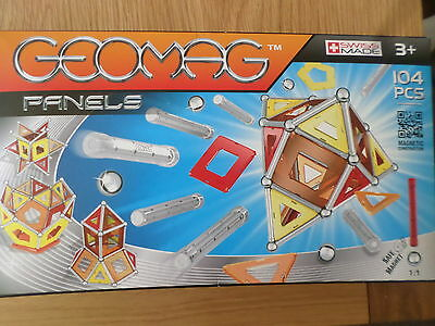 Geomag Panels  104  Pce Magnetic Construction Set New Free Post