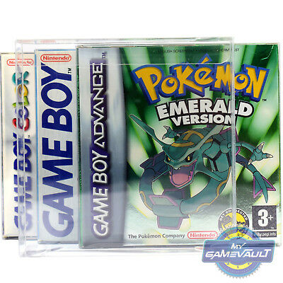 5 x GameBoy Advance Game Box Protectors STRONGEST 0.5mm PET Plastic Display Case
