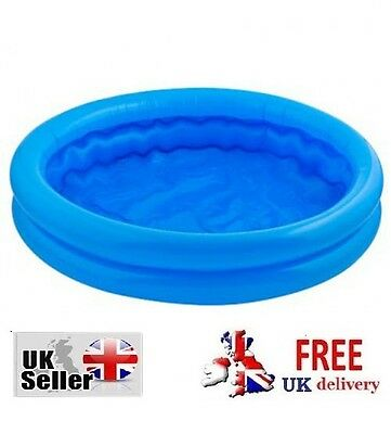 Paddling Pool 2 Ring Small 55cm Baby Toddler Kids Childs Inflatable Swimming toy