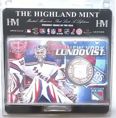 Henrik Lundqvist New York Rangers NHL Silver Coin Acrylic Display Stand