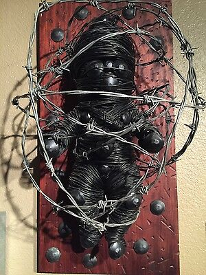 Original artwork sculpture steel and Bubinga wood