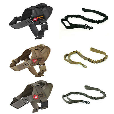 K9 Service Training Dog Harness Tactical No Pullg Dog Vest With 2 Patches/Leash