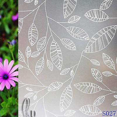 92cmx3m Leaves Privacy Frosted Frosting Removable Glass Window Film s027