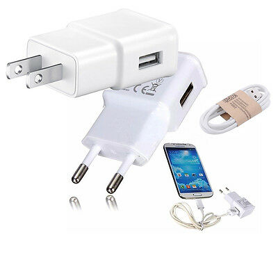 Travel Wall Charger Adapter / USB Cable For Samsung Android Smartphone
