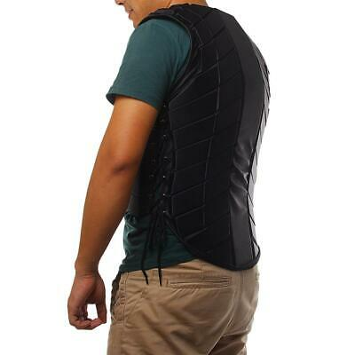 Horse Riding Vest Waistcoat Unisex Safety Equestrian Protector Protective Black