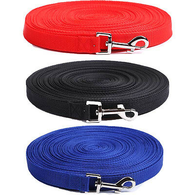 Dog Leash Long Obedience Recall Foot Feet Training Lead 6/15/20/30/50/100 FT HOT