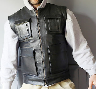 Leather Vest Biker Smuggler Han Solo inspired perfect for Harley Riders New