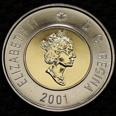 2001 Canada Two Dollars # Proof Like Toonie From Mint Set #