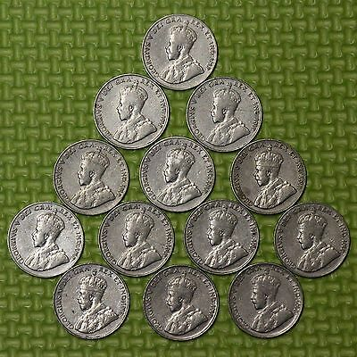 1922 1923 1924 1927 1928 1929 1930 1931 1932 1933 1934 1935 1936 Canada 5 Cents