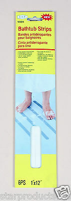 "12 x Clear Bathtub Shower Stairs Boat No Slip Anti Slip Safety Strip 12"" long"