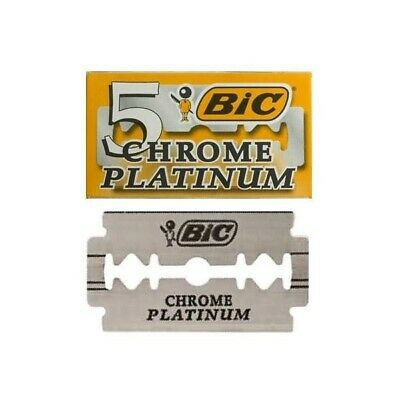 Bic Chrome Platinum Double Edge Razor Blades 5/10/25/50/100