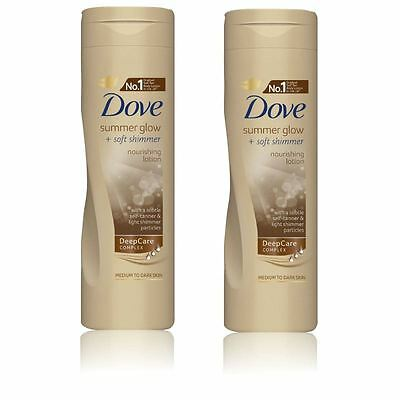 Dove Summer Glow and Soft Shimmer Nourishing Body Lotion 250 ml - 2 Pack