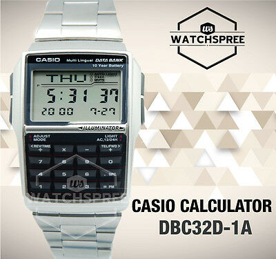 Casio Multi-Lingual Data Bank Watch DBC32D-1A