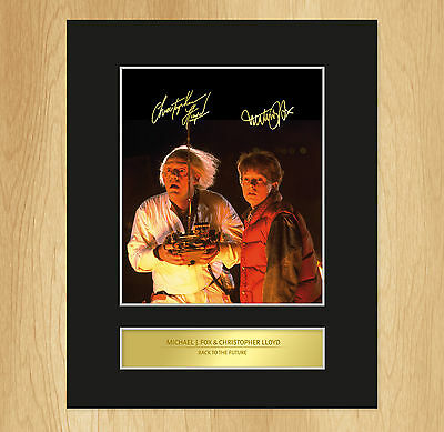 Michael J. Fox Christopher Lloyd Signed Mounted Photo Display Back To The Future