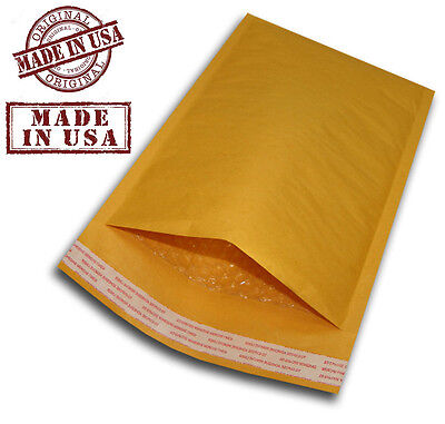 "200 #2 8.5x12 KRAFT BUBBLE PADDED MAILERS SELF SEAL ENVELOPES 8.5"" x 12"""